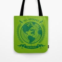 All Around The World Tote Bag by Berwies