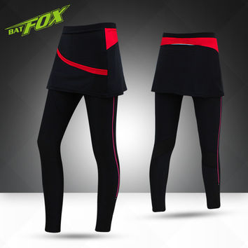 Women Running Skirt Pants Spring&Summer Outdoor Elastic Hiking Fitness Pants UV Proof Yoga Pants