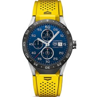 Yellow Carbide Coated Titanium Smartwatch by Tag Heuer