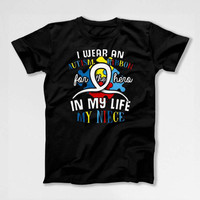 Autism Shirt Uncle T Shirt Autism Awareness Day Autistic Support TShirt Aunt Gifts Autism Spectrum My Niece My Hero Mens Ladies Tee DN-683