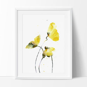 Watercolor Flowers, Flower Art Painting, Watercolor Art Print, Flower Print Wall Decor, Colorful Flowers Gift Poster (82)
