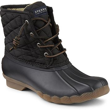 WOMENS SPERRY SALTWATER QUILTED DUCK BOOTS
