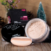 4 Colors Smooth Loose Powder Makeup Transparent Finishing Powder Waterproof Cosmetic For Face Finish Setting With Puff