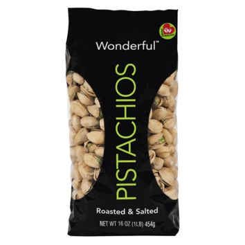 Wonderful Pistachios, Roasted & Salted, 16 oz