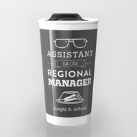 The Office Dunder Mifflin - Assistant to the Regional Manager Travel Mug by Noonday Design   Society6