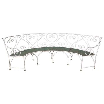Wrought Iron French Garden Bench