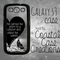 Psalms 107:29 Quote Samsung Galaxy S3 Hard Plastic or Rubber Cell Phone Case Cover Original  Design
