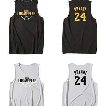 BONJEAN Cheap Men 24 Kobe Bryant Print Jersey Top Quality Uniforms Sports Basketball Jerseys Breathable Training Shirts