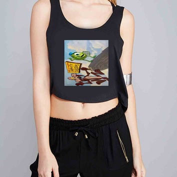 monster inc and looney tunes for Crop Tank Girls S, M, L, XL, XXL *07*