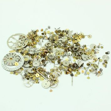 Free Shipping Gears Craft 20g/lot Old Steampunk Watch Parts Pieces Cogs Wheels