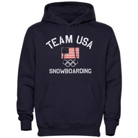 USA Snowboarding Fired Up Hoodie - Navy Blue