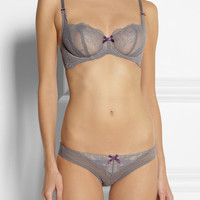 Elle Macpherson Intimates | Gentle Jade stretch-lace underwired bra | NET-A-PORTER.COM