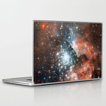 Bright nebula stars galaxy hipster geek cool space Nasa orange nebulae photograph Laptop & iPad Skin by iGallery