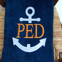 Personalized Beach Towel - Anchor