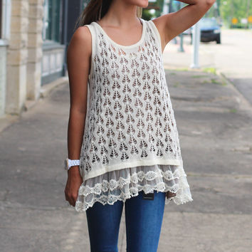 All About the Lace Tank {Natural}