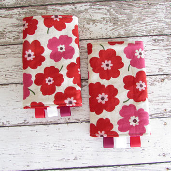 Poppies Suck Pads - Drool Pads to Match Kinderpack - Soft Structured Carrier Accessories - RTS