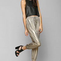 Finders Keepers Begin Again Metallic Jogger Pant - Urban Outfitters