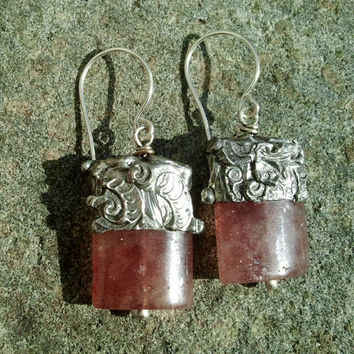 Timeless Relics Collection one-of-a-kind Earrings - Russian Sunstone
