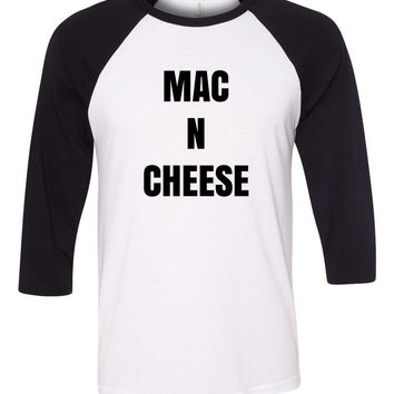 """Mac N Cheese"" Baseball Tee"