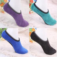 Autumn Winter parents velvet indoor floor socks thicken warm short boat sock antiskid yoga socks [8069647751]