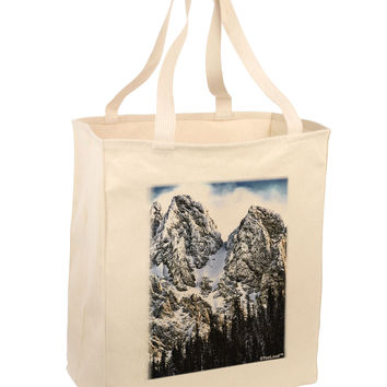 Mountain Landscape 2 Large Grocery Tote Bag