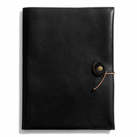 bleecker a5 notebook in leather