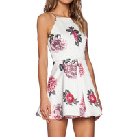 C/MEO Night Swim Dress in Ivory Bouquet