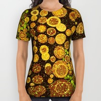 Glitter Grunge All Over Print Shirt by Webgrrl