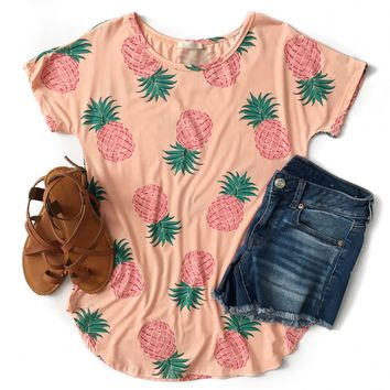 Peach Pineapple Top