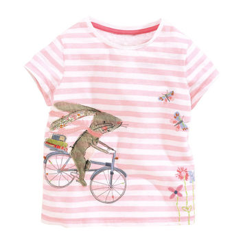 Little Boy Girl Summer Shirt Cotton Tees Cartoon Clothes