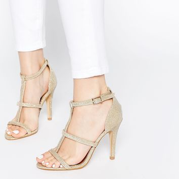 Daisy Street Cynthia Gold Heeled Sandals