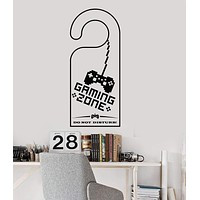 Vinyl Wall Decal Zone Video Game Gaming Play Room Gamer Stickers Unique Gift (ig3013)