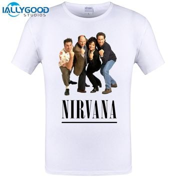 Rock Band SEINFELD NIRVANA Design Printed T-Shirt Men/Boy Punk Rock T Shirt Mens Cool Tee Tops 6XL 5XL