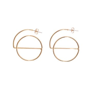 Gold Semi Circle Earrings