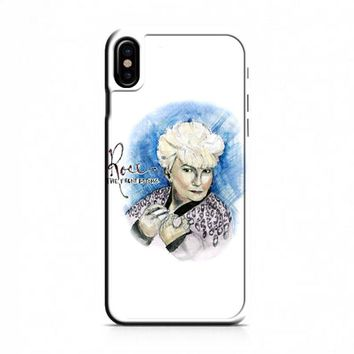 The Front Bottom Rose iPhone X Case