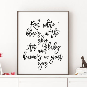Lana Del Rey National Anthem Digital Print Typography Print Printable Wall Art Inspirational Quote Motivational Quote Wall Art Lana Del Rey