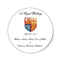 A Royal Wedding Round Stickers from Zazzle.com