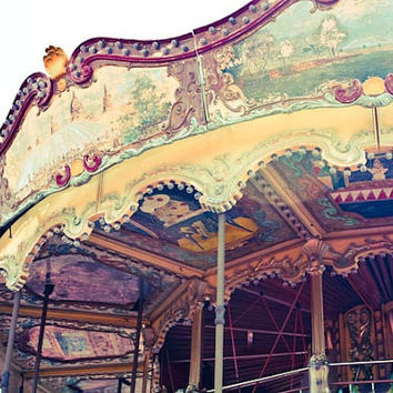 Carousel in Tibidado - Carnival- Whimsical - 12x12 Fine Art Photograph on canvas - affordable home decor
