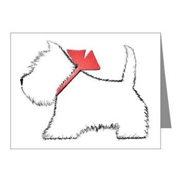 CUTE WESTIE DOG ART NOTE CARDS (PK OF 20)
