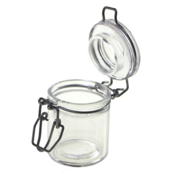Hinge Cylinder Locking Lid Jar, 3 Pieces