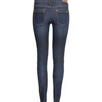H&M - Skinny Low Jeans - Dark denim blue - Ladies