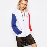 Le Coq Sportif Oversized Fit Colour Block Hoodie at asos.com