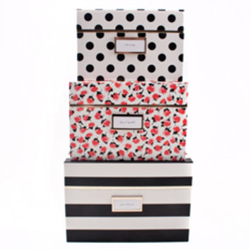 Kate Spade Nesting Boxes - Black Stripe