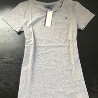 Tommy Hilfiger Simple Solid color Tops T-Shirt