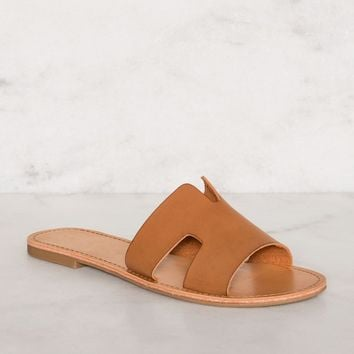 Mira Slip-On Sandals - Tan