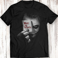 JOKER Top Tee T-shirt Cotton movie comics ROCK size S M L XL 2XL Women Men Gift Idea