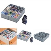 TOOGOO(R) 30 Cell Bamboo Charcoal Underwear Bar Ties Socks Drawer Closet Organizer Storage Box