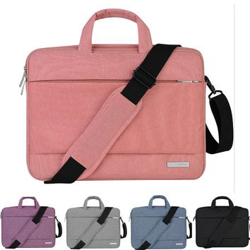 Men Women 13 14 15.4 15.6 Nylon Handbag Messenger Shoulder Notebook Laptop Bag Sleeve Case for macbook Air Pro Acer Lenovo Dell