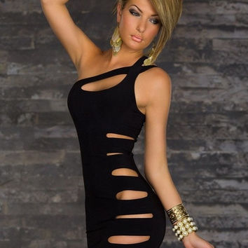 Sexy Club Wear Dresses New Fashion Bandage Bodycon Dress Black Mini Party Cute novelty Dress For Women = 1645889796