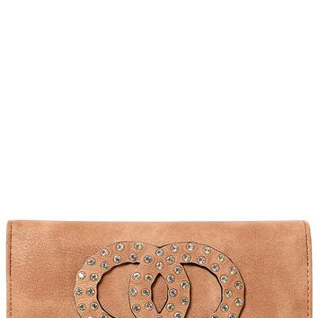 Embellished Purse in Brown